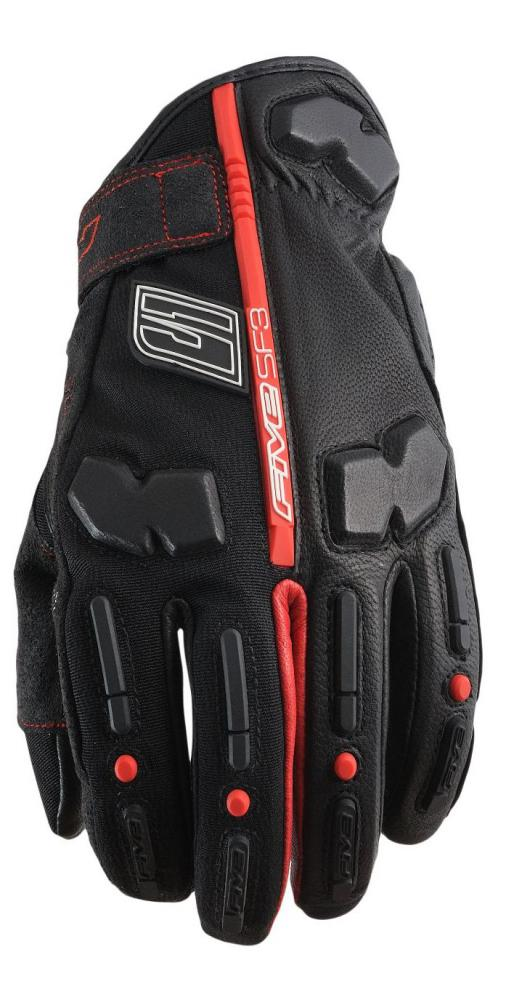 FIVE RUKAVICE SF3 BLACK/RED