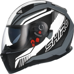 SHIRO PRILBA SH-881 SV MOTEGI MATT BLACK WHITE