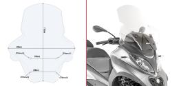 GIVI PLEXI MP3 350-500 SPORT/BUSINESS (18-20) D5613ST