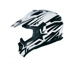 SHIRO PRILBA MX-734 BRAVO WHITE/BLACK