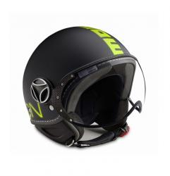 MOMO DESIGN PRILBA FGTR FLUO BLACK MATT/YELLOW FLUO