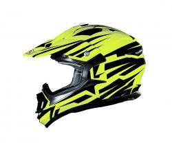 SHIRO PRILBA MX-734 BRAVO FLUO YELLOW